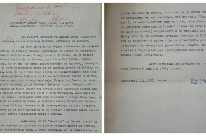Tajni sastanci mitropolita Dajkovića sa crnogorskim rukovodstvom